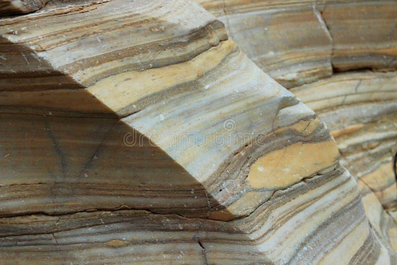 Pareti di canyon di marmo lucidate, canyon del mosaico, parco nazionale di Death Valley, California fotografie stock