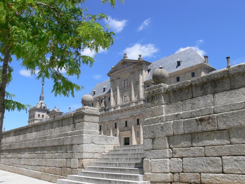 Pareti di pietra del EL Escorial immagine stock