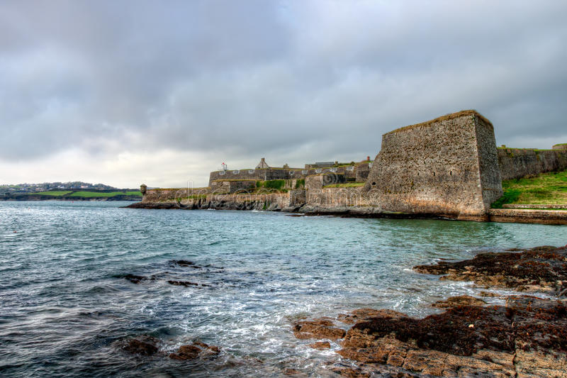 Pareti e bastioni di Charles Fort.Kinsale-Ireland fotografia stock libera da diritti