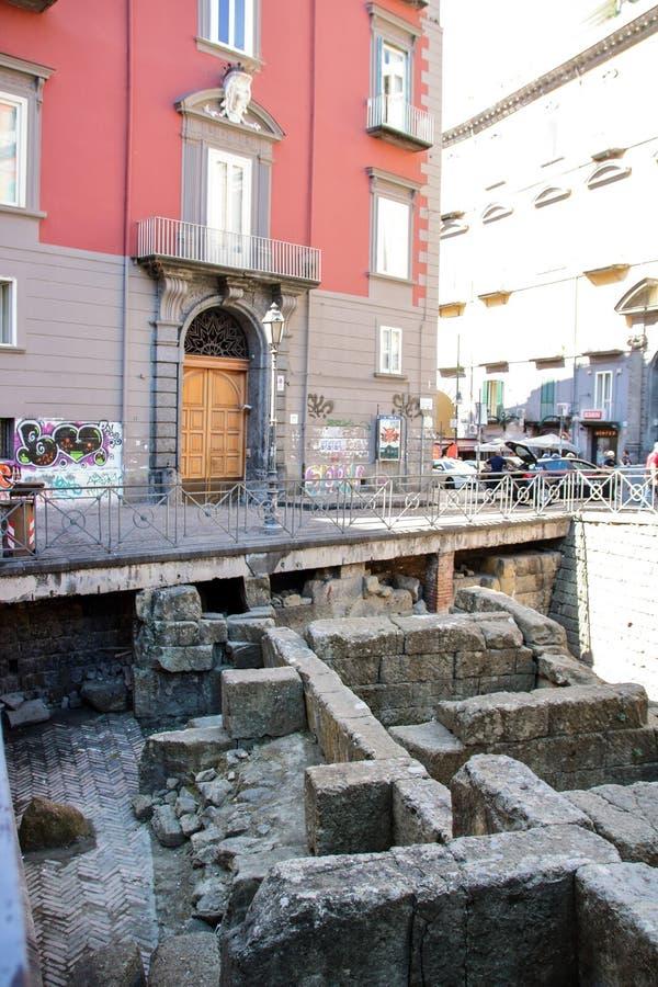 Pareti greche di Napoli fotografie stock