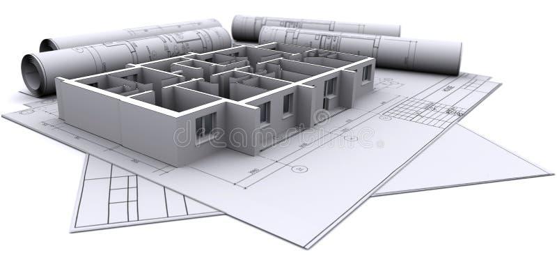 Pareti sulle illustrazioni di costruzione royalty illustrazione gratis
