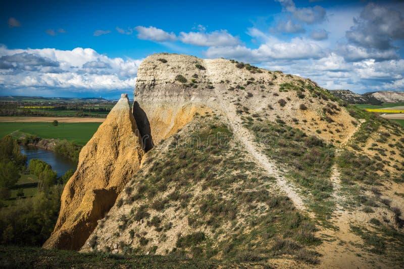 Pareti verticali accanto al fiume Escursione, brusca fotografia stock