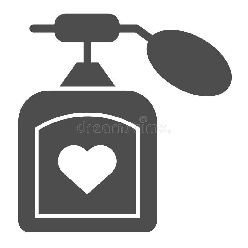 Parfümkörperikone Aromavektorillustration lokalisiert auf Weiß Duft Glyph-Artdesign, bestimmt für Netz und APP lizenzfreie abbildung