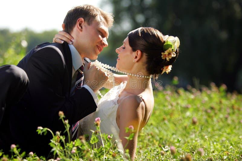 parfältnygift person royaltyfri bild