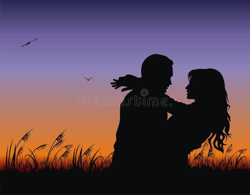 parförälskelse stock illustrationer