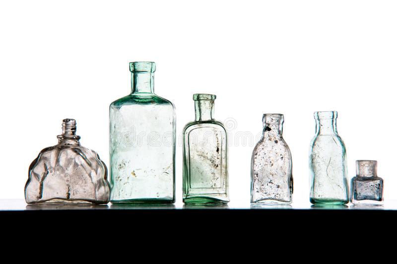 Parfümerzeugerflaschen stockbild