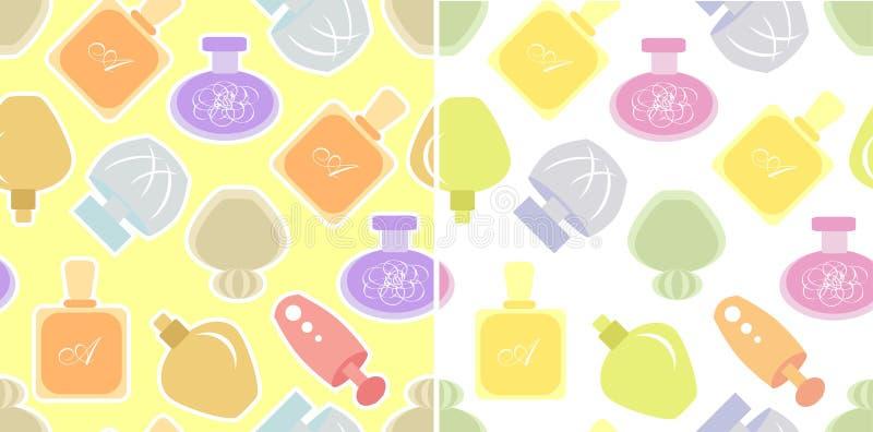 Parfümsatz nahtlose Muster lizenzfreie abbildung