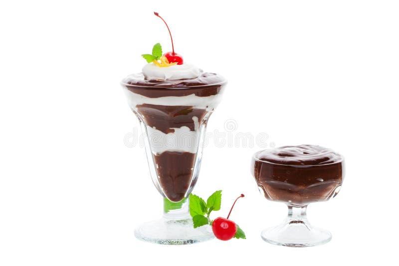 Parfait en pudding royalty-vrije stock afbeeldingen