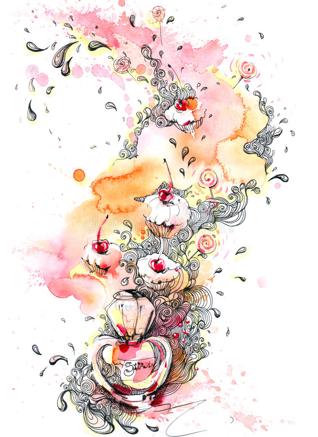 Parfum royalty-vrije illustratie