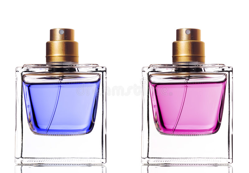 parfum de bouteilles photographie stock libre de droits