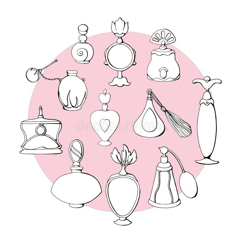 Parfum I vector illustratie