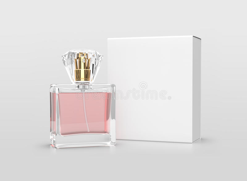 Parfum verpakkingsspot omhoog stock afbeelding