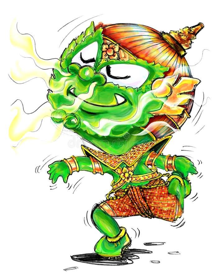 Parfum voluptueux pour suivre l'action géante thaïlandaise de bande dessinée illustration de vecteur