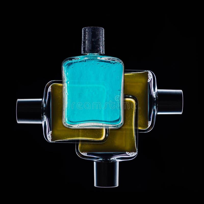 Parfum, vonk, schoonheidsmiddel, aroma, verse manier, dalingen stock afbeelding