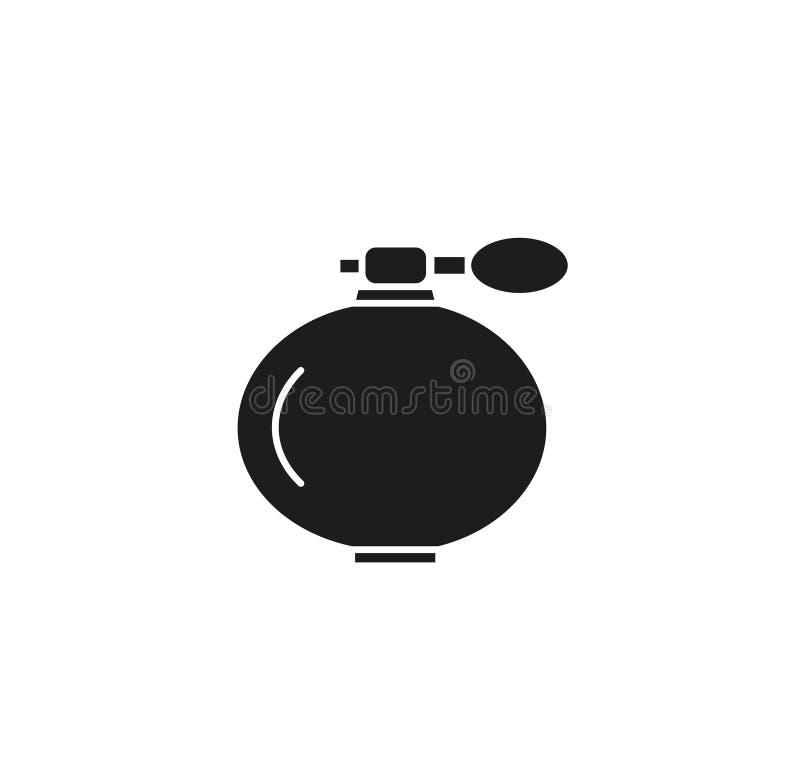 Parfum zwart pictogram royalty-vrije illustratie
