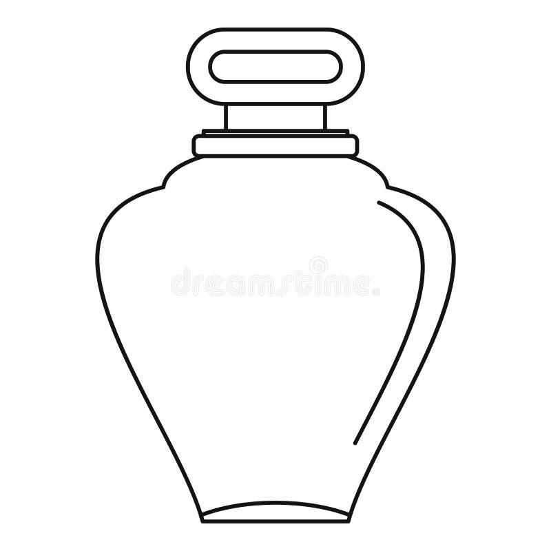 Parfume bottle icon, outline style royalty free illustration