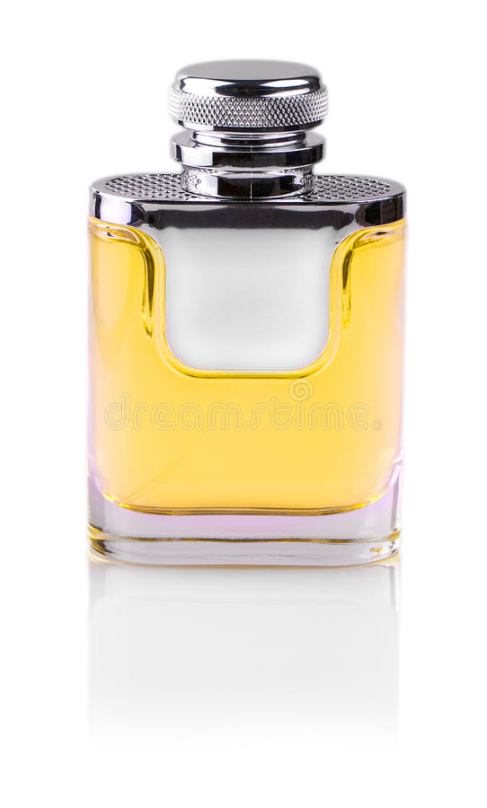 Parfume bottle isolated on white background. stock images