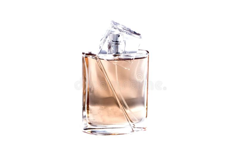 Parfume on a white background royalty free stock photo