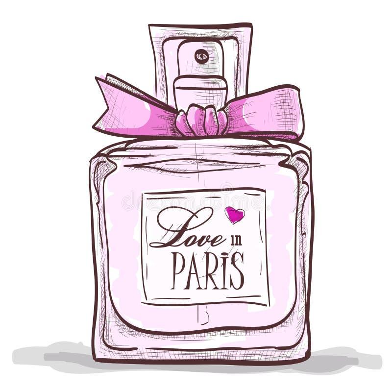 Parfume miłość w Paris ilustracji