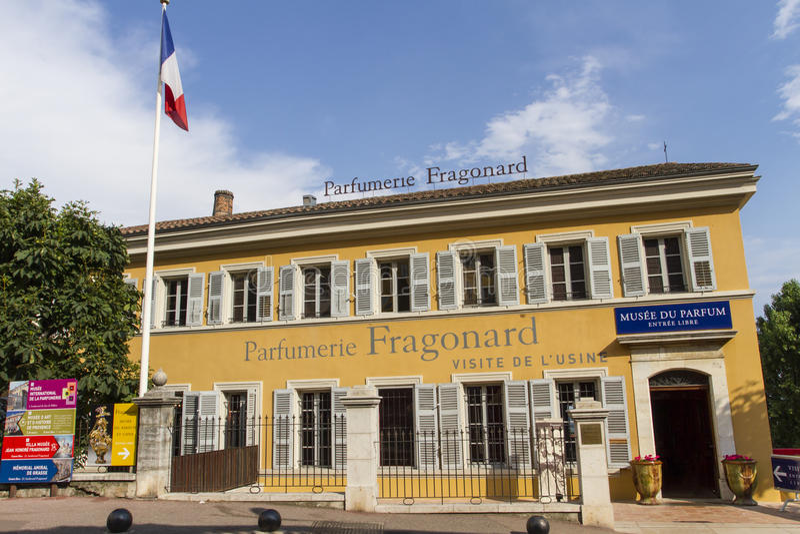 Parfumerie Fragonard i Grasse, Frankrike royaltyfri bild