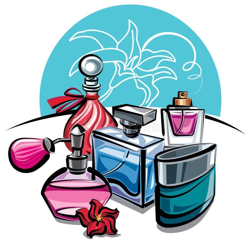 parfumes ilustração stock