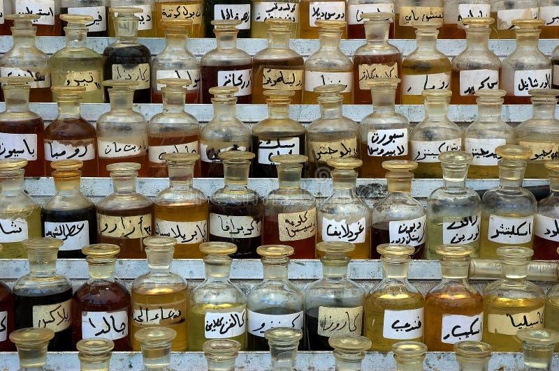 Parfums in Damascus souk stock afbeeldingen