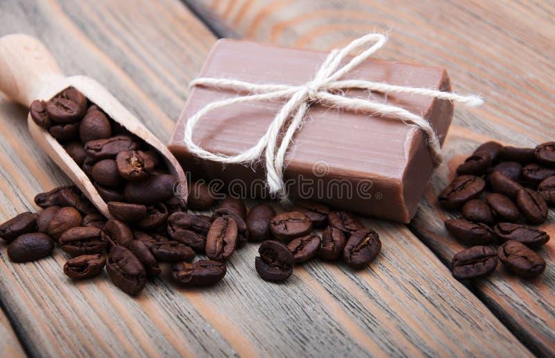 Parfymerad tvål för handgjort kaffe royaltyfri foto