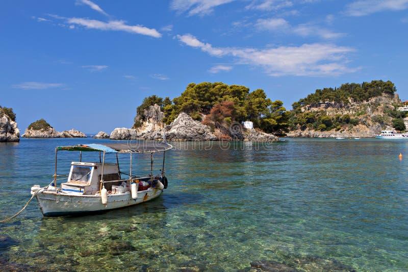 Parga fjärd i Grekland royaltyfri fotografi