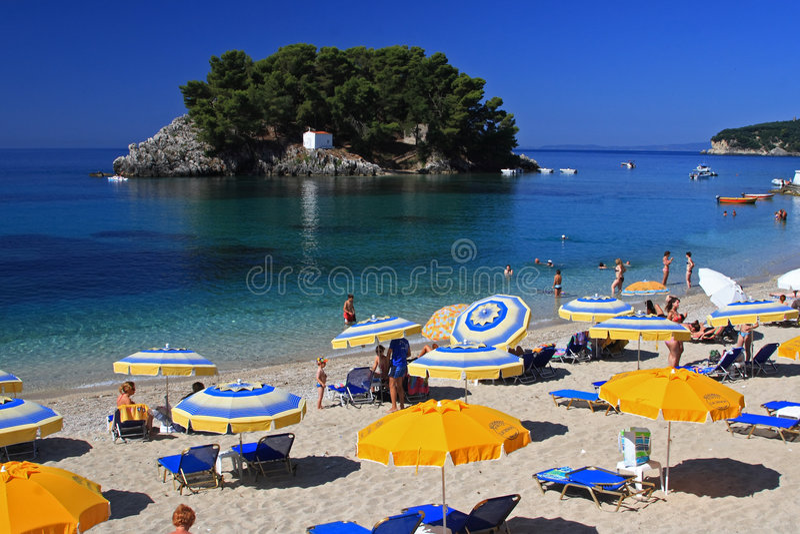 Parga Greece fotografia de stock