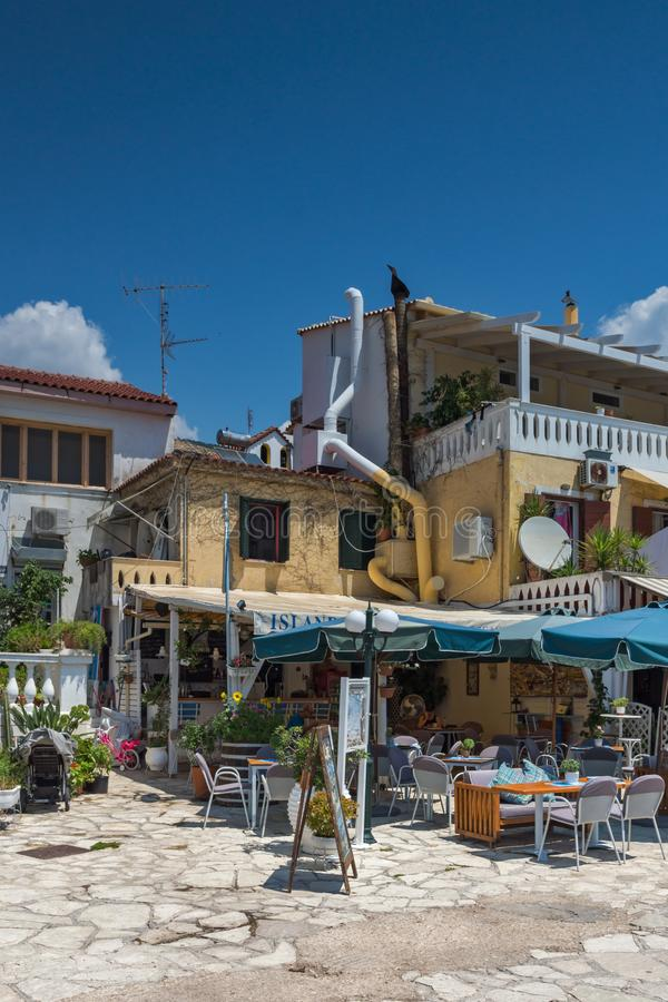 Amazing summer view of town of Parga, Epirus, Greece stock photography