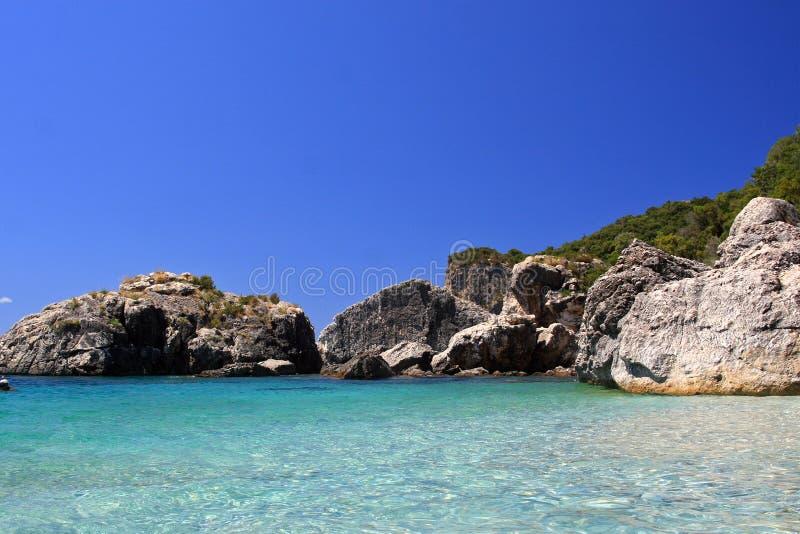 Parga Noordelijk Griekenland stock foto's
