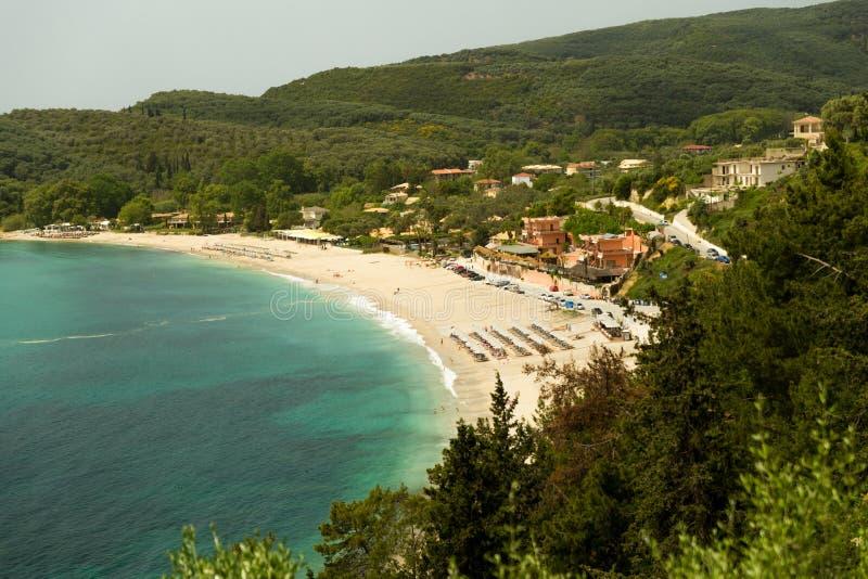 Parga stadvaltos sätter på land den grekiska turist- semesterorten royaltyfria bilder