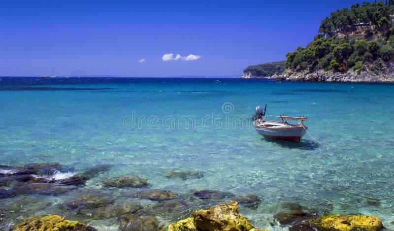 Parga - turystyczny raj w Grecja obrazy royalty free