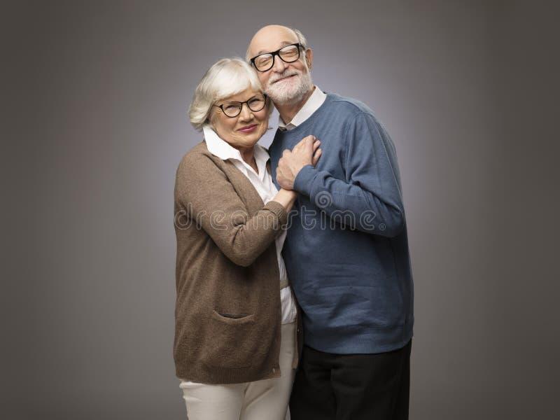 pargamla människor ståendepensionär två fotografering för bildbyråer
