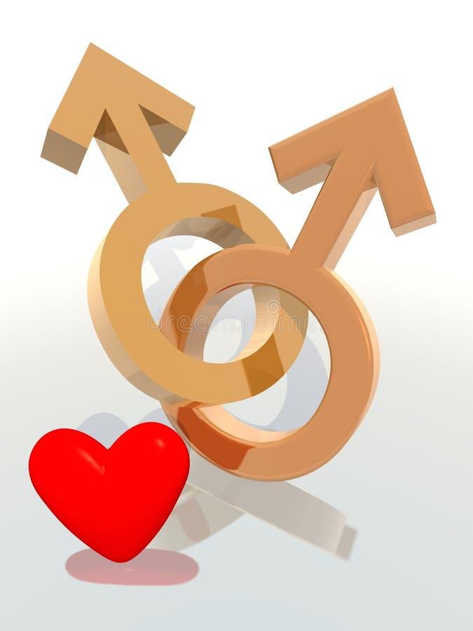 parhomosexuell person stock illustrationer
