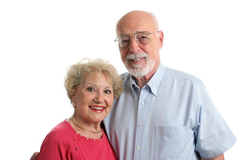 parhorisontalpensionär tillsammans arkivbilder