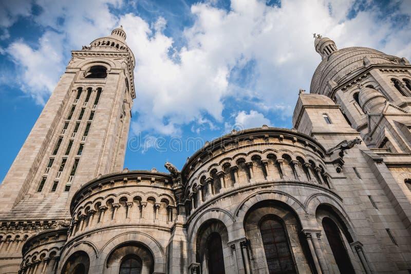 Pari的耶稣圣心的大教堂的建筑细节 免版税库存照片