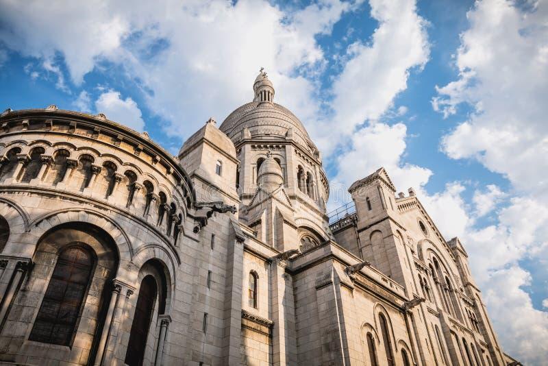Pari的耶稣圣心的大教堂的建筑细节 库存图片
