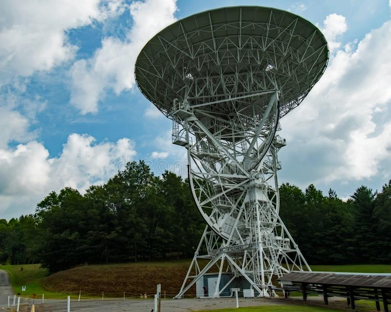 PARI Radio Telescopes Western NC. PARI Radio Telescopes in Western NC stock images