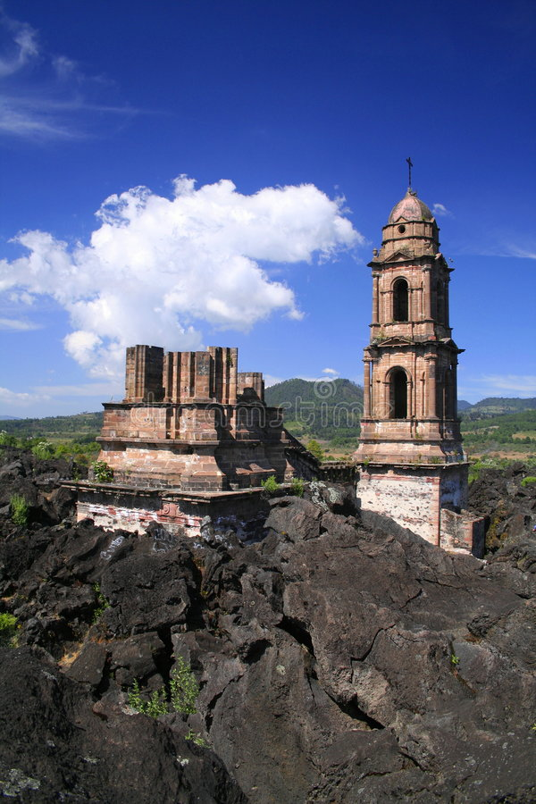Paricutin ruins royalty free stock photos