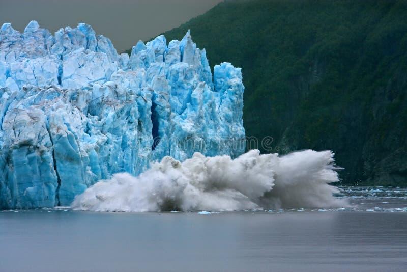 Parida del glaciar de Hubbard imagenes de archivo