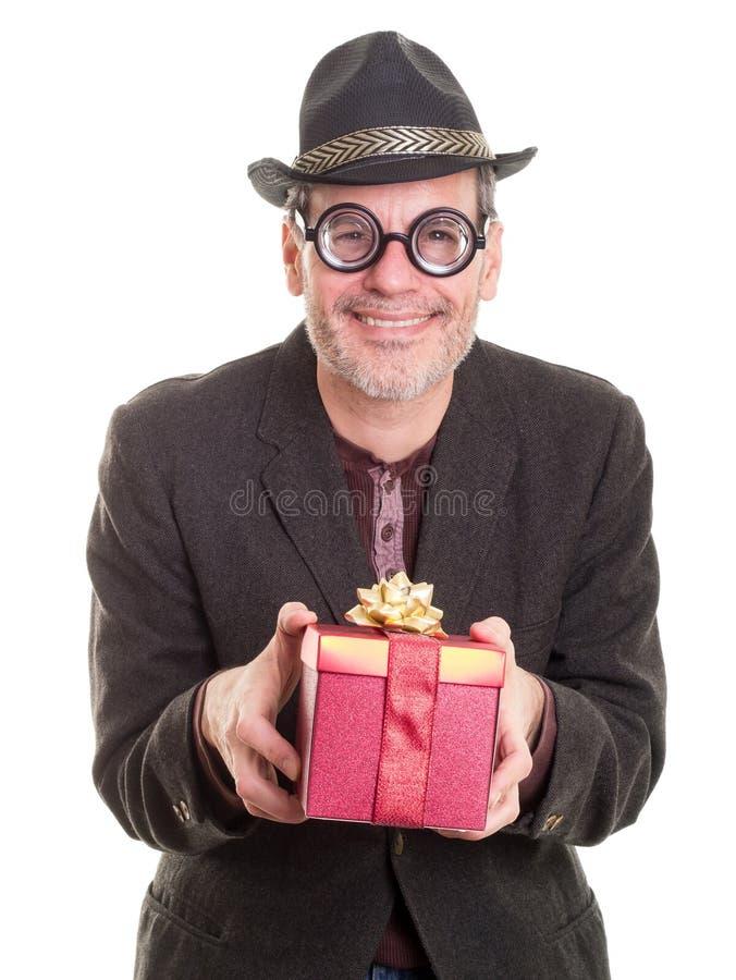 Pariente extraño en la Navidad foto de archivo