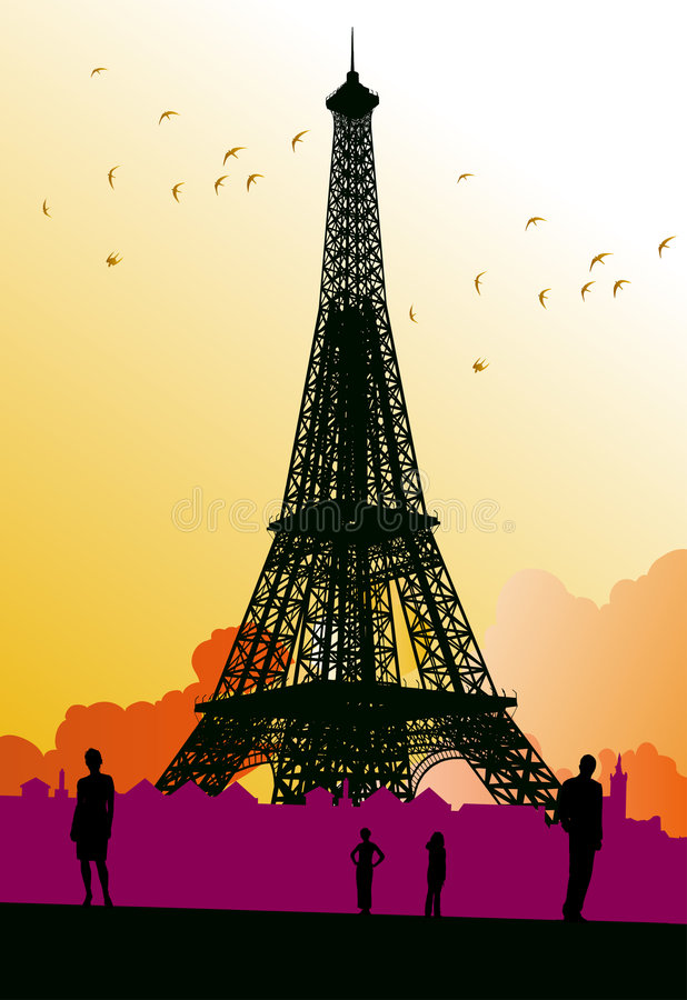 Parigi illustrazione di stock