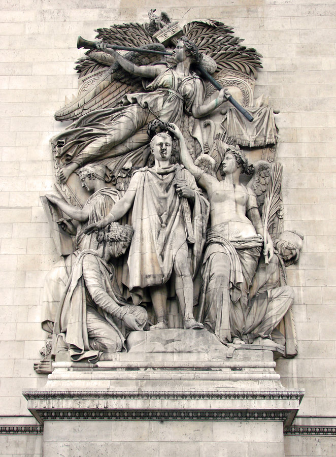 Parigi - Arc de Triomphe [1] immagine stock