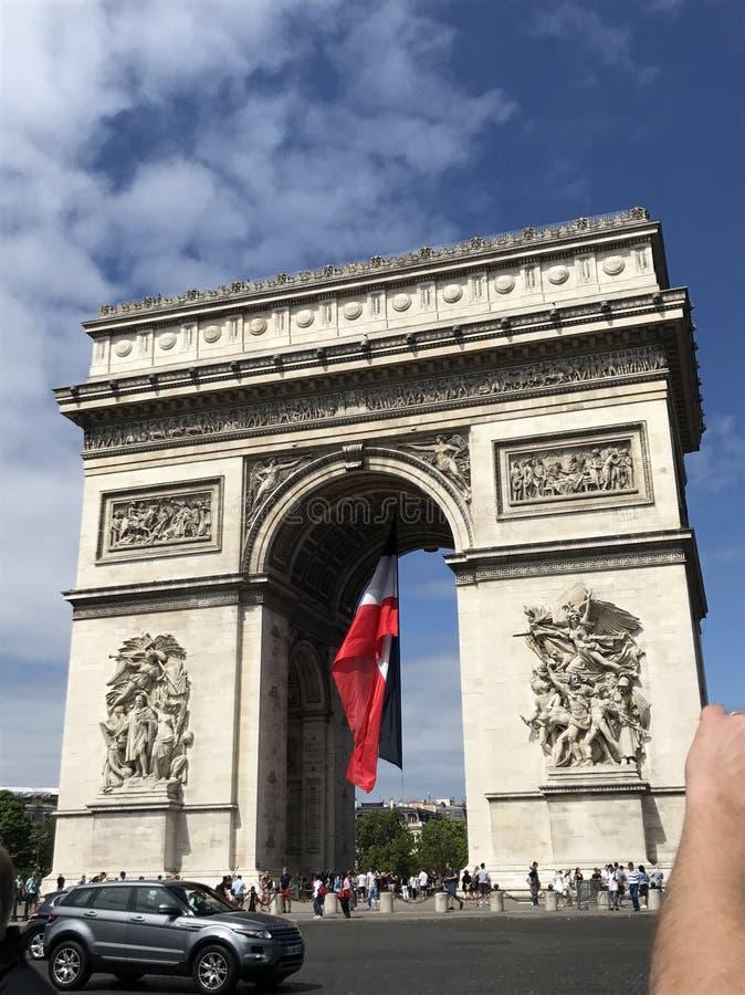 Parigi Arc du Triomphe immagini stock libere da diritti