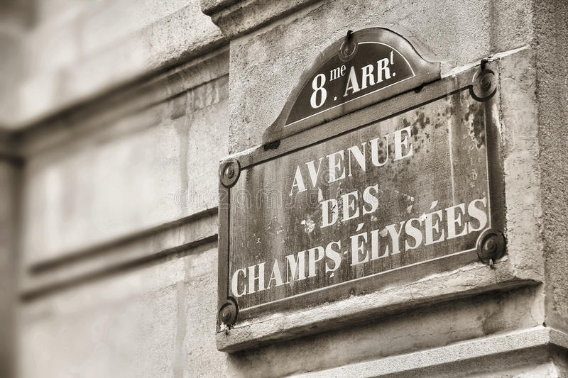 Parigi - campioni Elysees fotografia stock libera da diritti