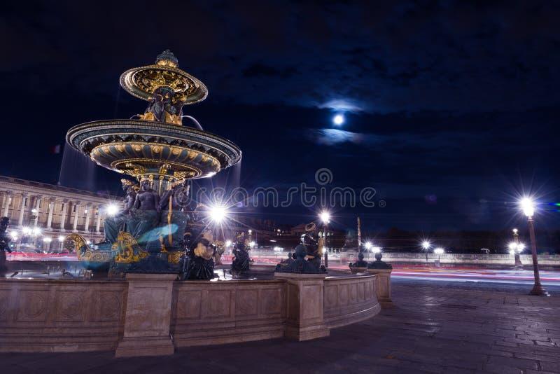 Parigi Fontain Concorde Square fotografia stock
