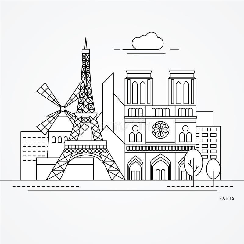 Parigi Francia royalty illustrazione gratis
