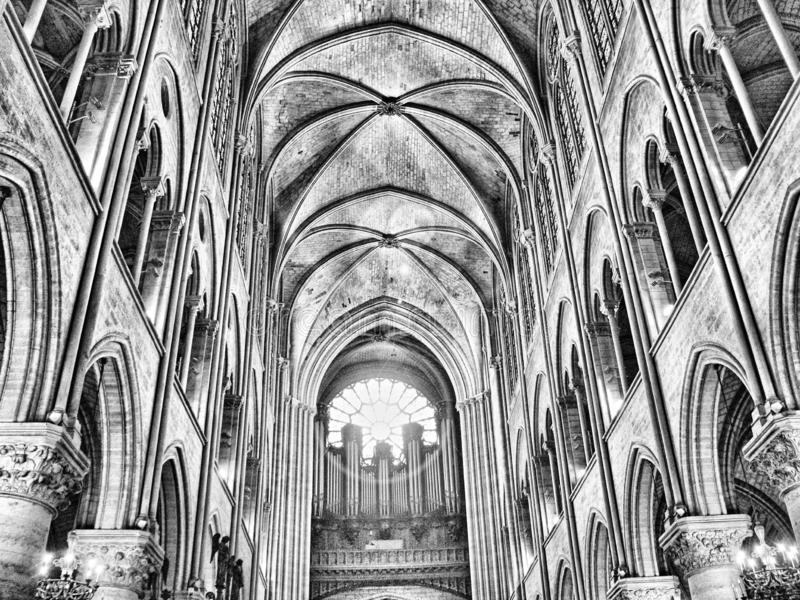 Parigi, Francia 11/04/2007 Cattedrale di Notre-Dame immagine stock