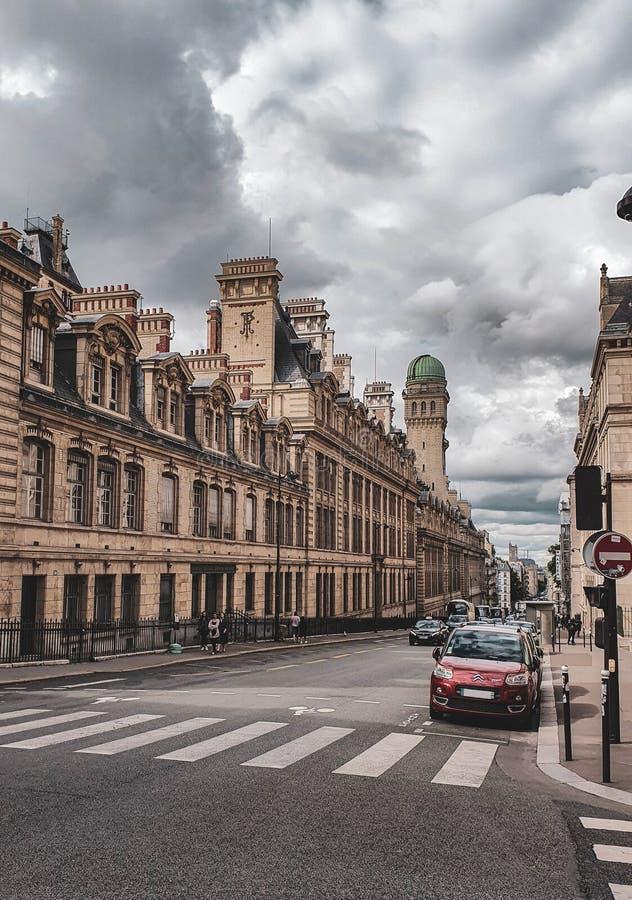 Parigi, Francia, giugno 2019: Vie di Parigi fotografie stock libere da diritti
